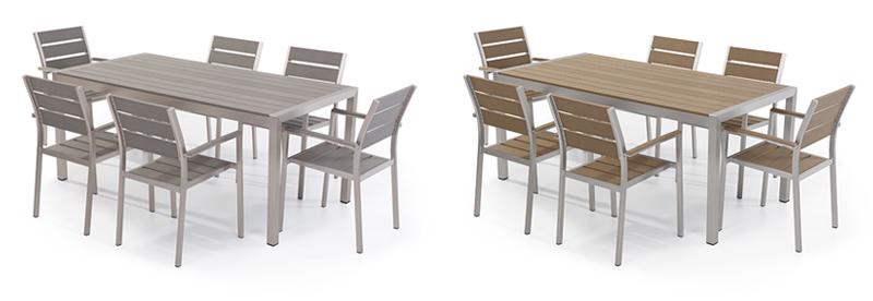 Gartenmöbel, Esstisch mit 6 Stühlen, Garten Garnitur, Aluminium ...