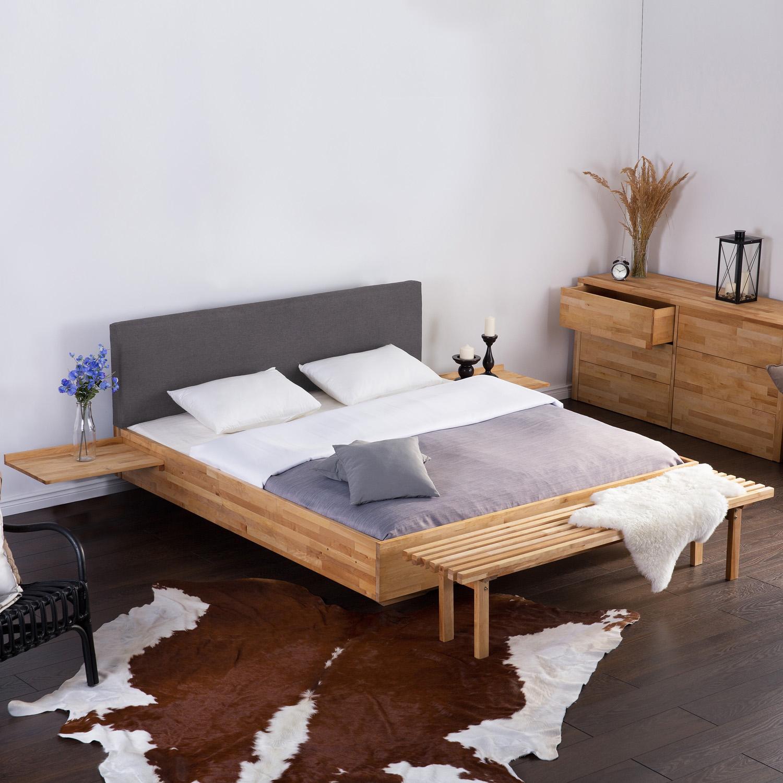 Hard Wood Super King Size Bed 6 Ft Upholstered