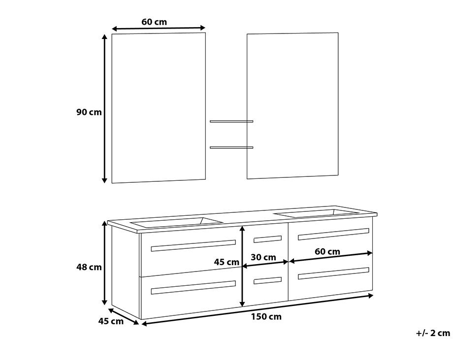 Meuble de salle de bain blanc baar acheter sur for Acheter meuble de salle de bain