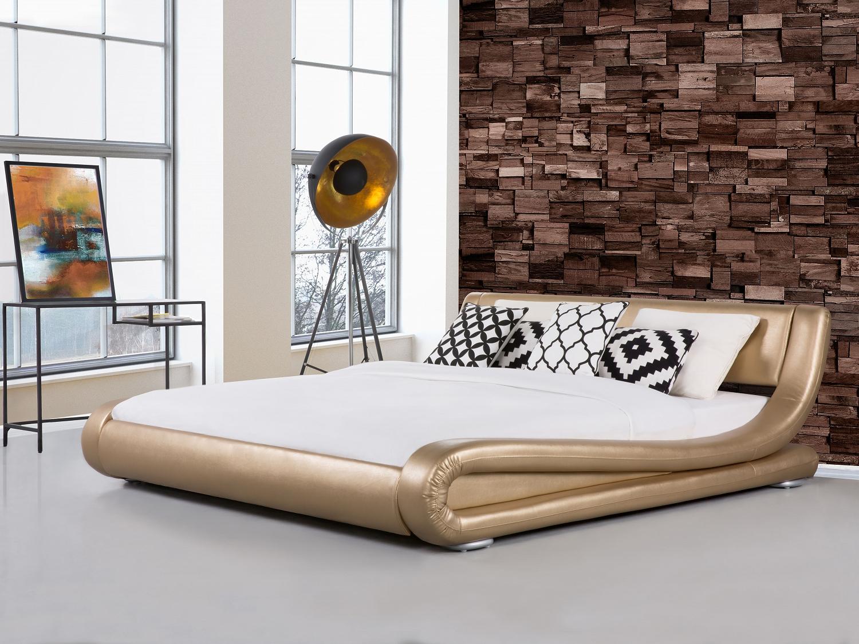 Lit lit design lit contemporain lit king size lit 180x200 cm lit dor - Lit king size design ...