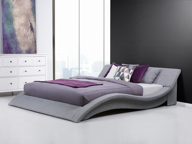 Bed super king size 180x200 cm bedroom furniture grey fabric elegant ebay - Lit king size 180x200 ...