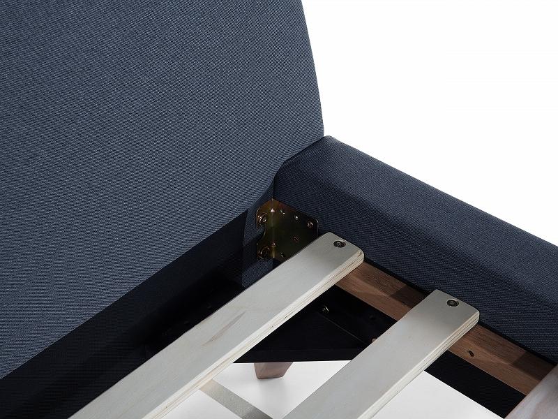 Lit lit bleu fonc cadre de lit en tissu lit 180x200 cm lit king size ebay - Dimensions draps lit 180 sur 200 ...