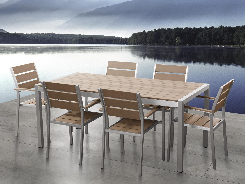 Gartenmobel Aluminium Tisch 6 Stuhle Gartentisch Gartenstuhl
