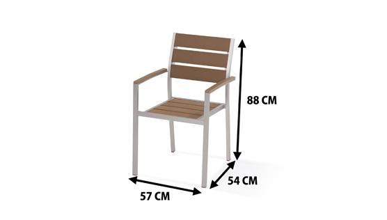 Zestaw Mebli Ogrodowych Z Aluminium : Zestaw mebli ogrodowych z aluminium stol 6 krzesel  6240274379 [R