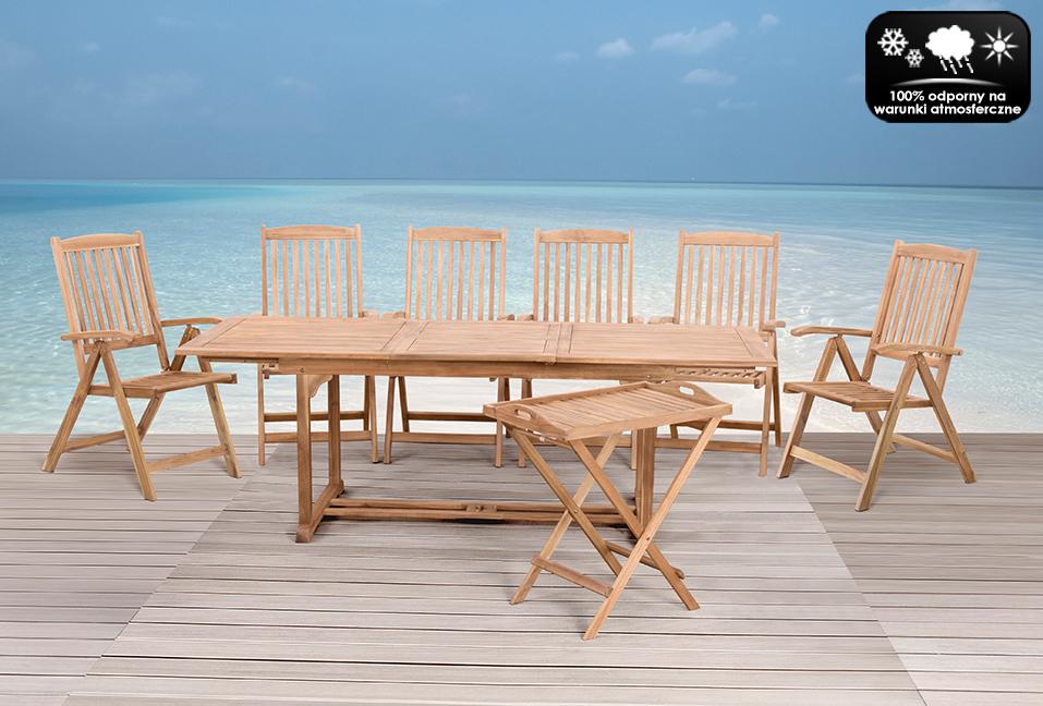 Meble Ogrodowe Riviera Gdynia : Meble drewniane ogrodowe stół stolik 6 krzeseł  5659372466