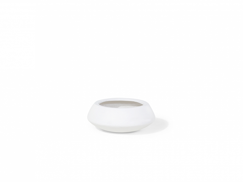 blumentopf weiss pflanzk bel blumenk bel bertopf schale 23x23x13 cm. Black Bedroom Furniture Sets. Home Design Ideas