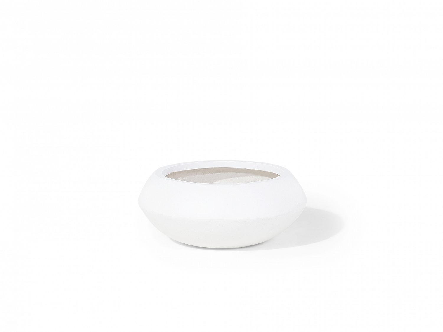 Cache pot de jardin cache pot ovale blanc 35x35 cm for Cache pot interieur