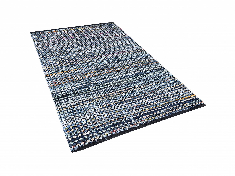 Tapis-Tapis-fait-main-Tapis-contemporain-Tapis-80x150-cm-Tapis-bleu
