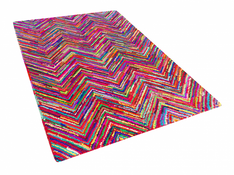 teppich bunt baumwolle polyester shaggy l ufer. Black Bedroom Furniture Sets. Home Design Ideas
