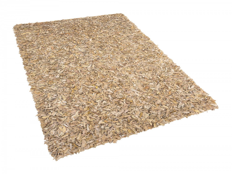 Tapis-rectangulaire-Tapis-design-140x200-cm-Cuir-beige-Tapis-en-peau