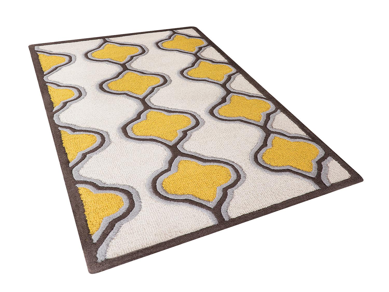 Tapis-Tapis-jaune-Tapis-motif-moderne-Tapis-de-chambre-Tapis-de-salon