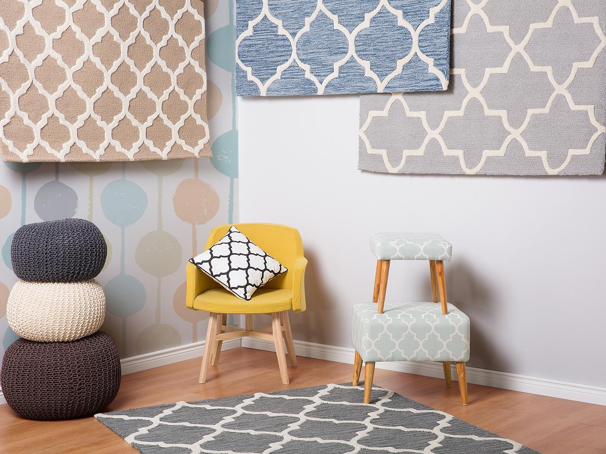 Teppich Hellblau Läufer Vorlage Rechteckig Schlafzimmer Wolle