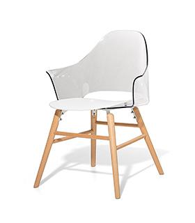 Stuhl schalenstuhl plastikstuhl weiss in baar kaufen bei for Design plastikstuhl