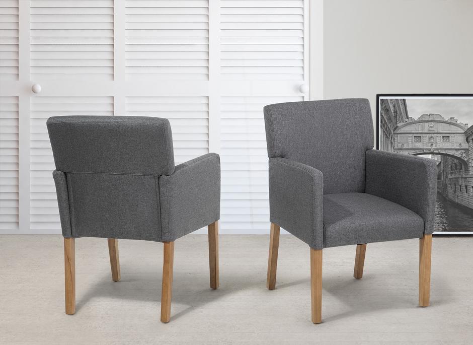 Polstersessel grau fauteuil essstuhl in baar kaufen bei for Essstuhl grau