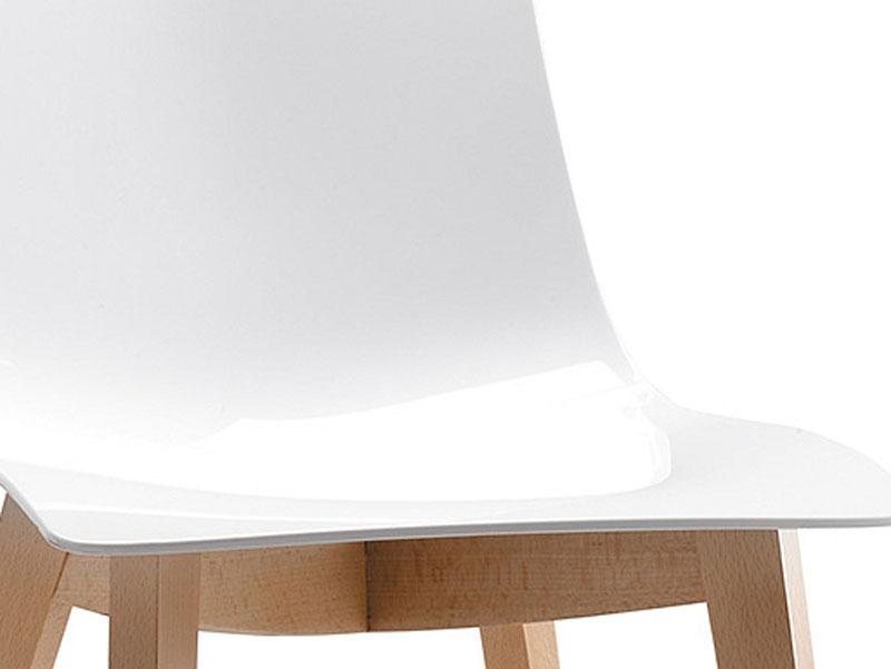 stuhl weiss hellbraun kunststoffstuhl esszimmerstuhl. Black Bedroom Furniture Sets. Home Design Ideas