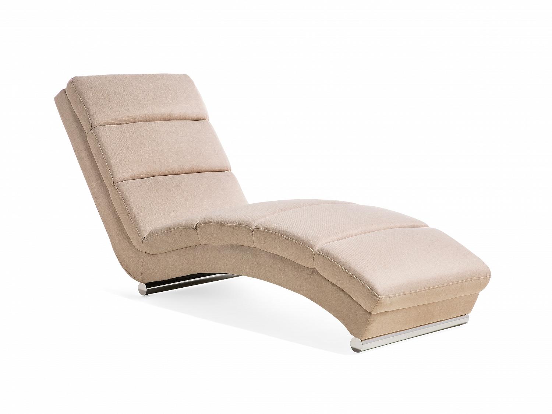 chaise longue beige tissu beige fauteuil de relaxation salon moderne eur 469 00 picclick fr. Black Bedroom Furniture Sets. Home Design Ideas