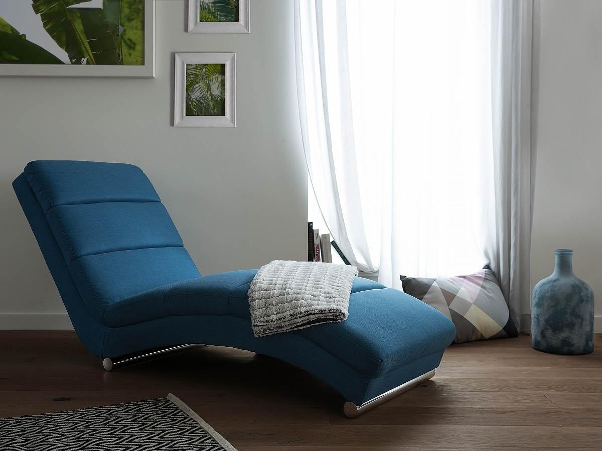 sofa blau couch relaxsessel recamiere liegestuhl relaxliege chaiselongue ebay. Black Bedroom Furniture Sets. Home Design Ideas