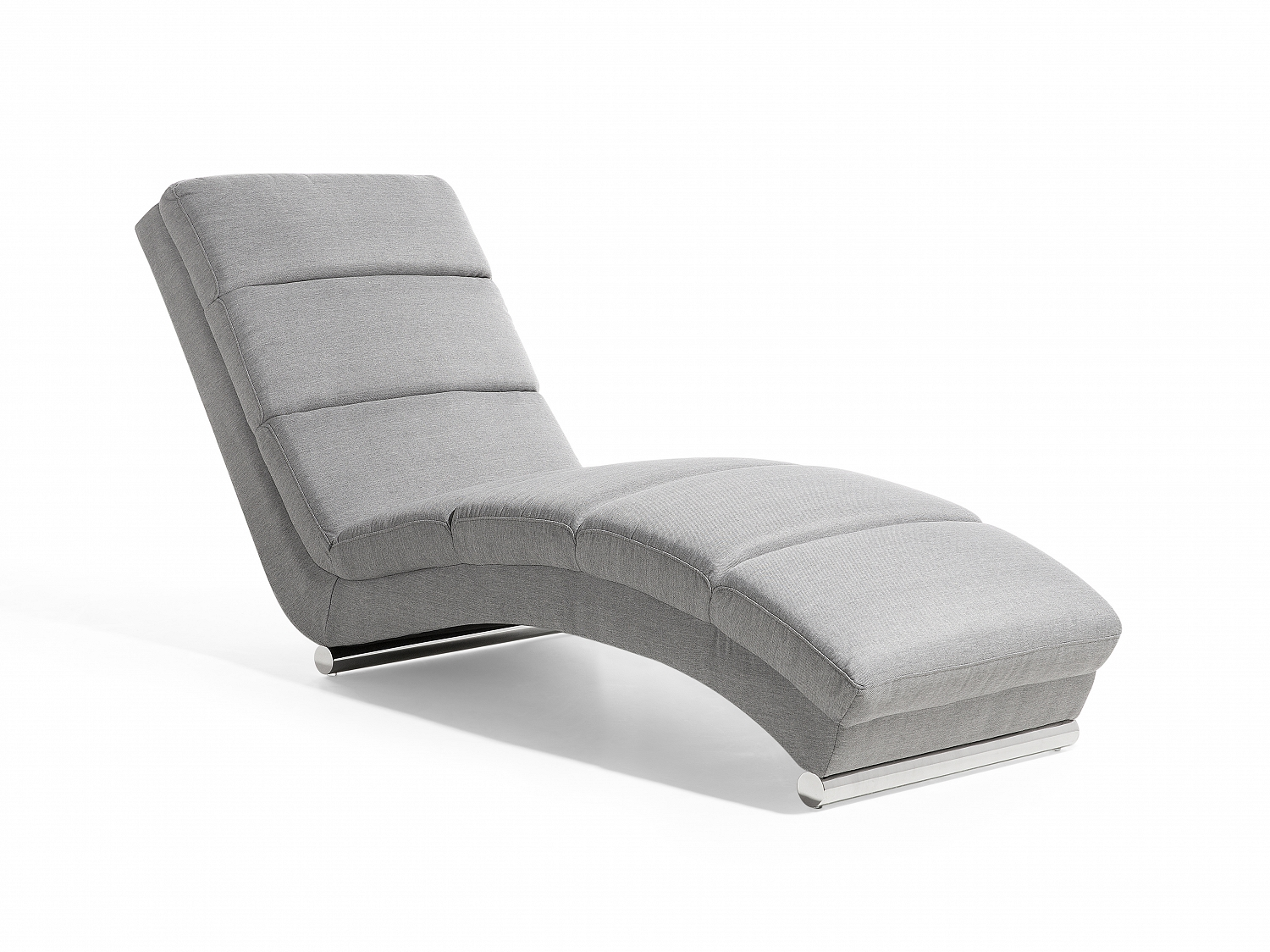 chaise longue lounge chair padded seat light grey ebay