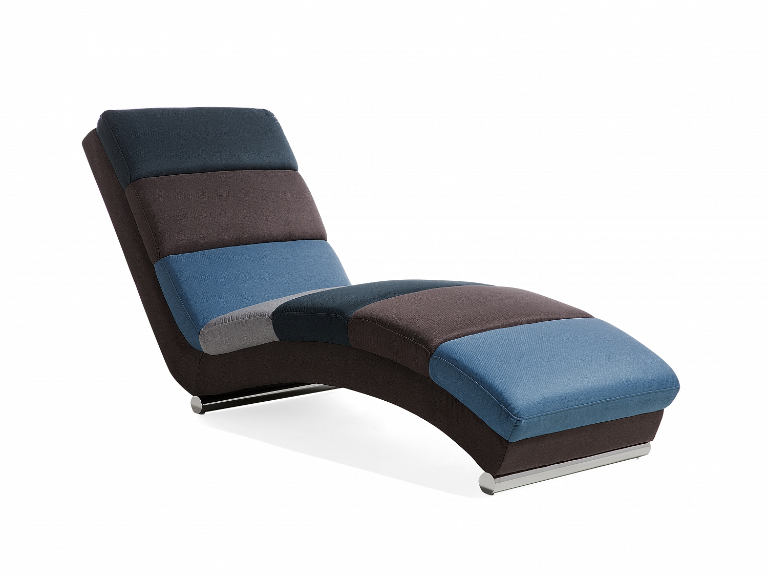 Chaise longue fabric sofa floor lounger lounge chair day for Chaise longue sofa bed ebay