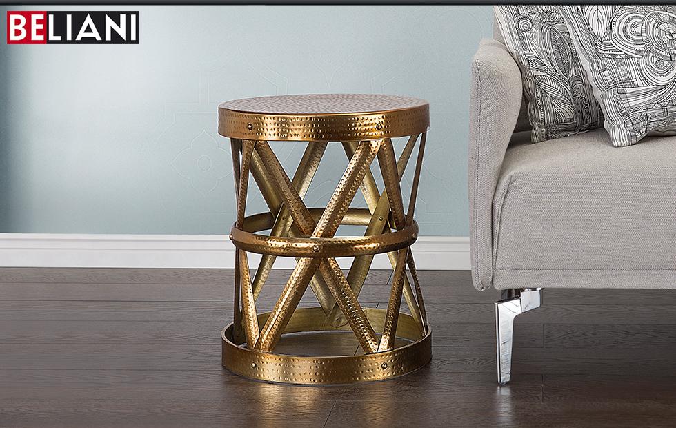 Tisch beistelltisch couchtisch gold in baar kaufen bei for Couchtisch gold