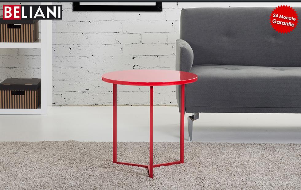 Couchtisch beistelltisch rot 50x50 cm in baar kaufen for Couchtisch rot