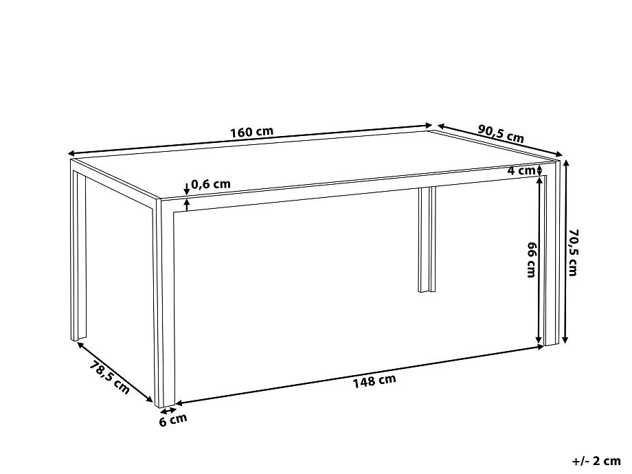 gartentisch weiss 160 cm esstisch aluminium gartenm bel outdoor glas. Black Bedroom Furniture Sets. Home Design Ideas