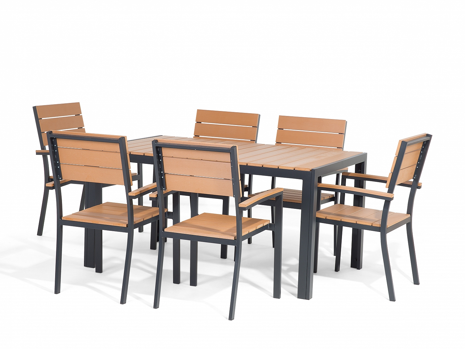 Patio Chairs Set Of 6: Patio Furniture Set Garden Table And Chairs Polywood 6- Piece