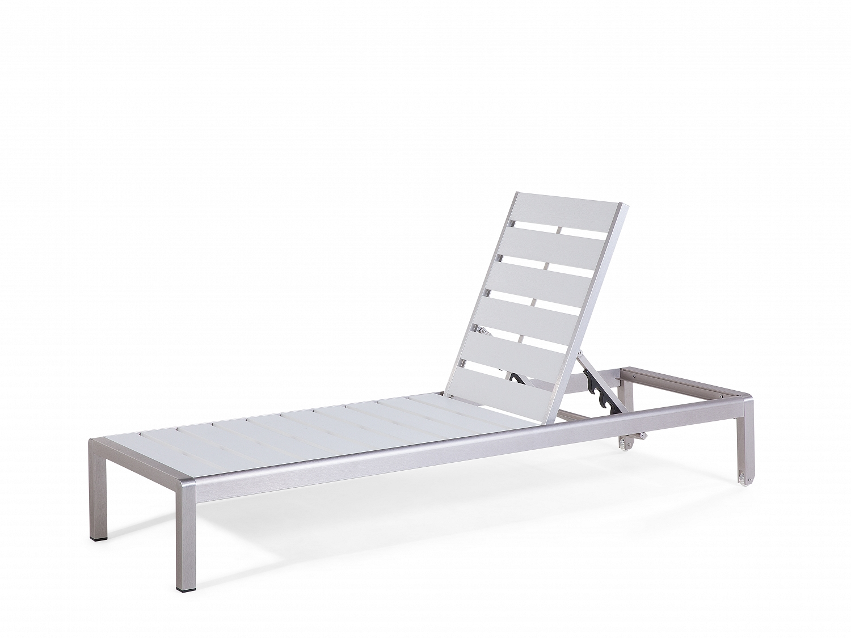 gartenliege weiss liegestuhl sonnenliege relaxliege liege aluminium polywood ebay