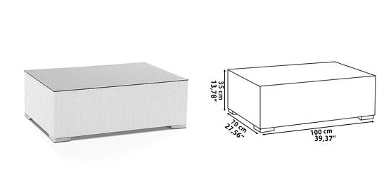 White rattan wicker sofa garden patio furniture set for Table 100x70
