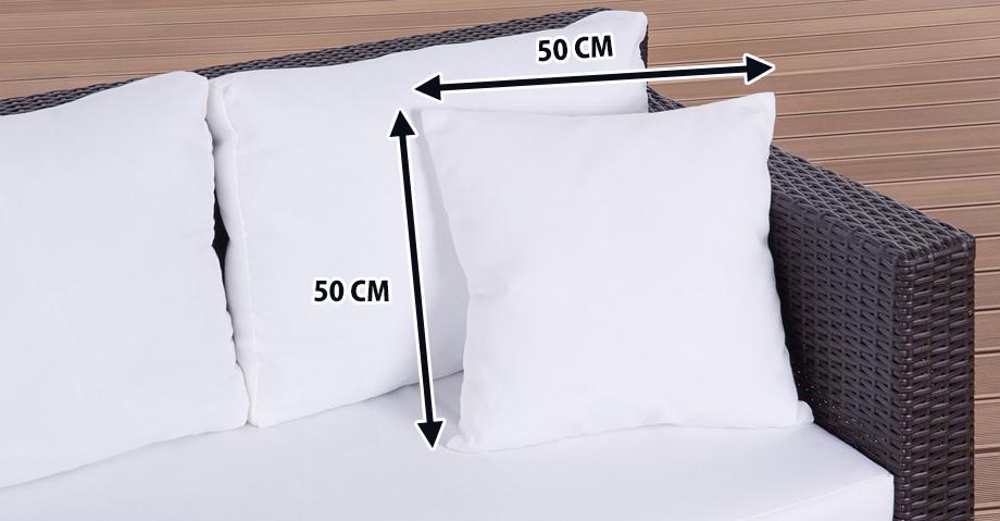 dekokissen zierkissen beige 50x50 cm in baar kaufen bei. Black Bedroom Furniture Sets. Home Design Ideas
