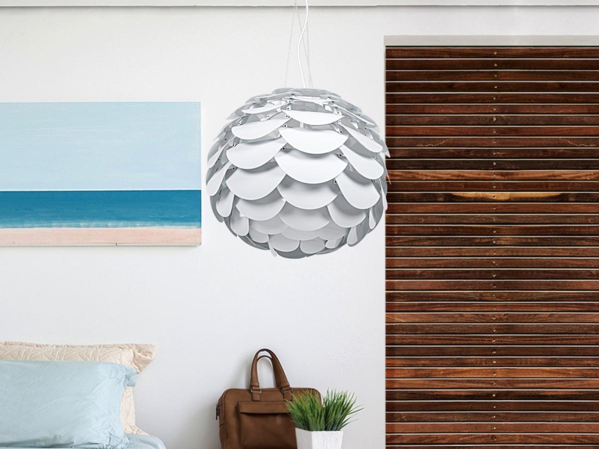 Lampe pendante lampe suspendu lampe blanc lampe design - Lampe plafond design ...