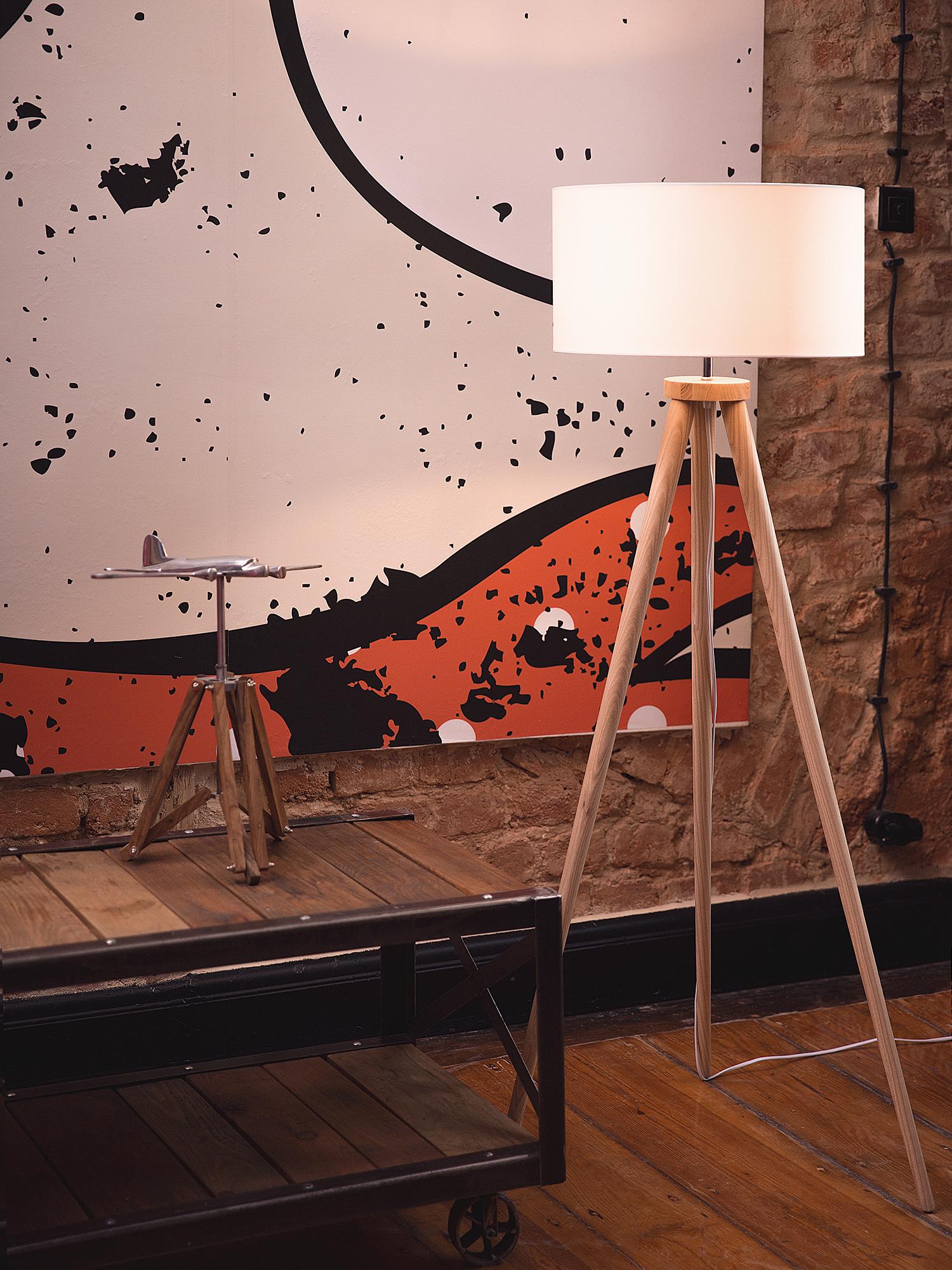 stehlampe standlampe leselampe beleuchtung wohnzimmer stehleuchte weiss ebay. Black Bedroom Furniture Sets. Home Design Ideas