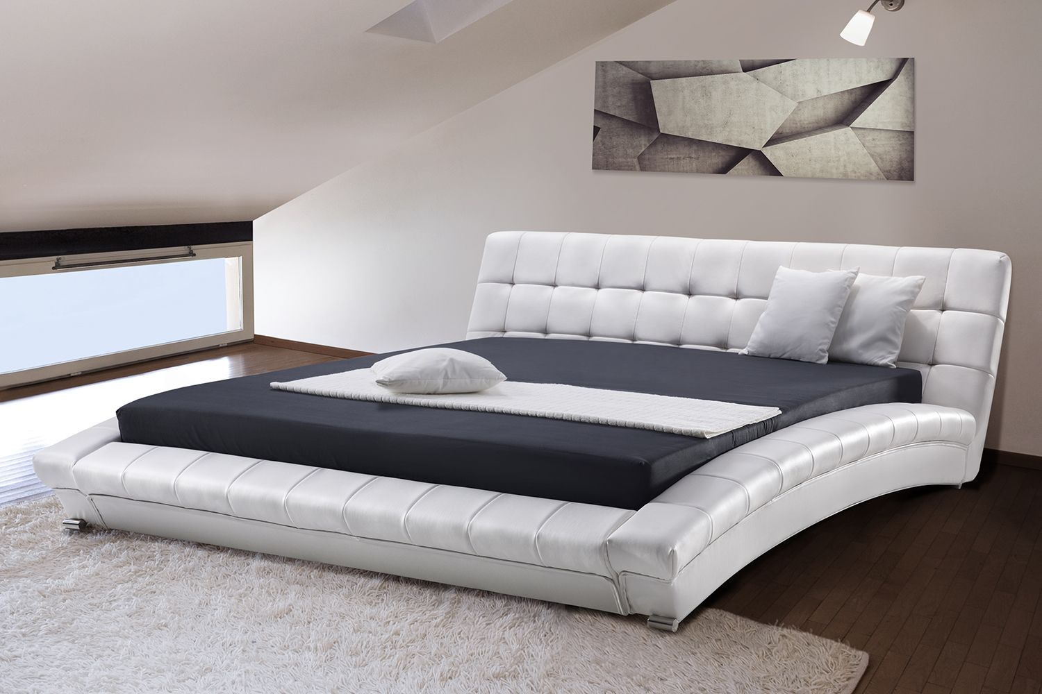 Divan bed furniture king size box spring bedroom for Grey divan king size bed