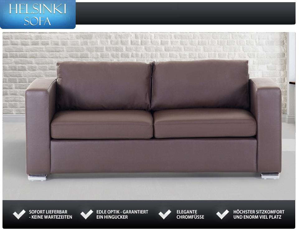 sofa braun 3 sitzer ledersofa couch in baar kaufen bei. Black Bedroom Furniture Sets. Home Design Ideas