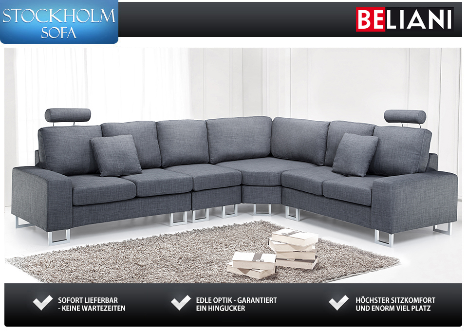 Couch sofa dunkelgrau sitzgarnitur in baar kaufen bei for Couch dunkelgrau