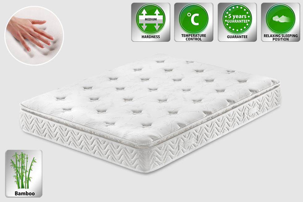 pocket spring hotel mattress 160x200 cm king size memory foam multipocket luxus ebay. Black Bedroom Furniture Sets. Home Design Ideas