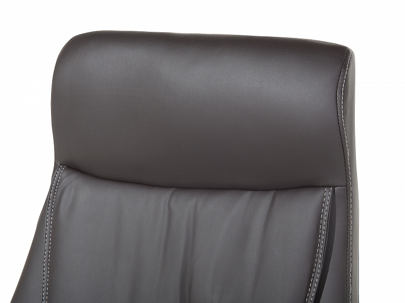 office chair desk computer faux leather headrest brown ebay