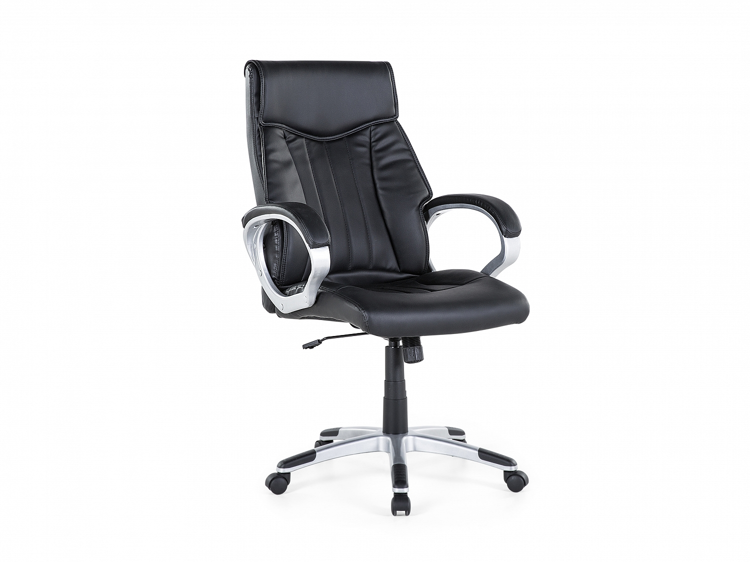 office chair swivel chair faux leather ergonomic desk chair swivel black ebay. Black Bedroom Furniture Sets. Home Design Ideas