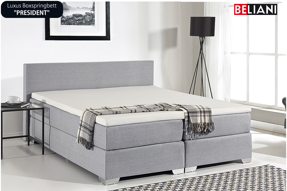 doppelbett bett hellgrau 160x200 cm in baar kaufen bei. Black Bedroom Furniture Sets. Home Design Ideas