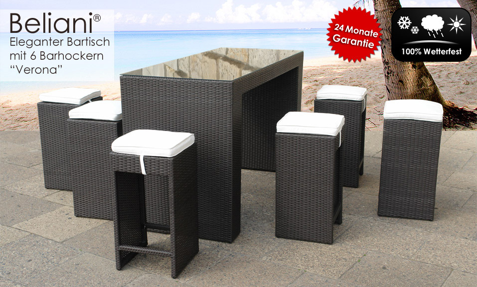 bartisch 6x hocker rattan barm bel in baar kaufen bei. Black Bedroom Furniture Sets. Home Design Ideas