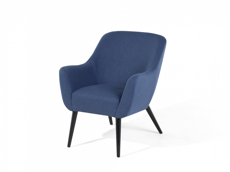Fauteuil vintage, Fauteuil design en tissu bleu foncé, Salon ...