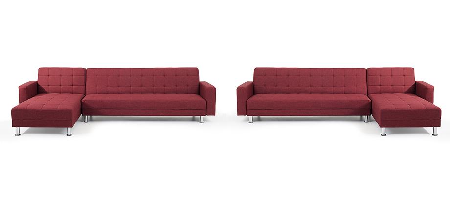 Sofa rot schlafsofa ecksofa stoffsofa in baar kaufen for Sofa 80 tief