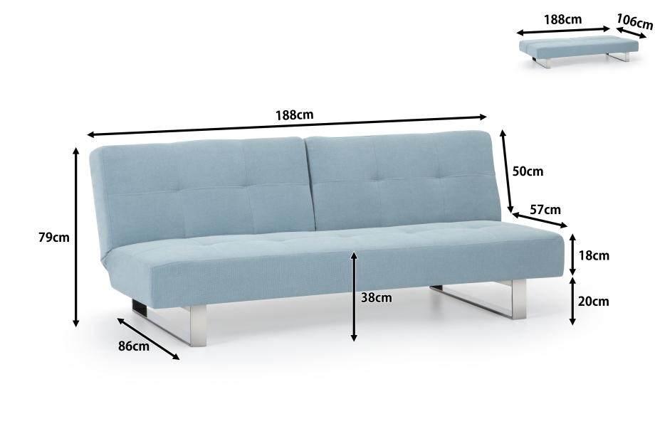 bettcouch sofa pastellminze bettsofa in baar kaufen bei. Black Bedroom Furniture Sets. Home Design Ideas