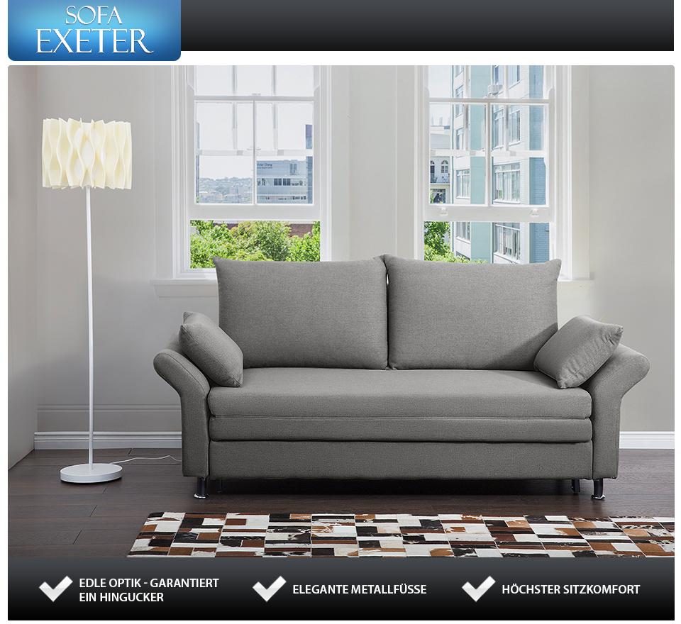 bettsofa grau bettcouch schlafsofa in baar kaufen bei. Black Bedroom Furniture Sets. Home Design Ideas