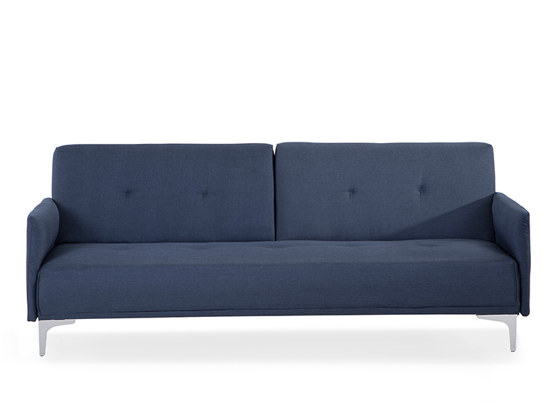Sofa dunkelblau schlafsofa couch schlafcouch bettsofa for Couch polsterung