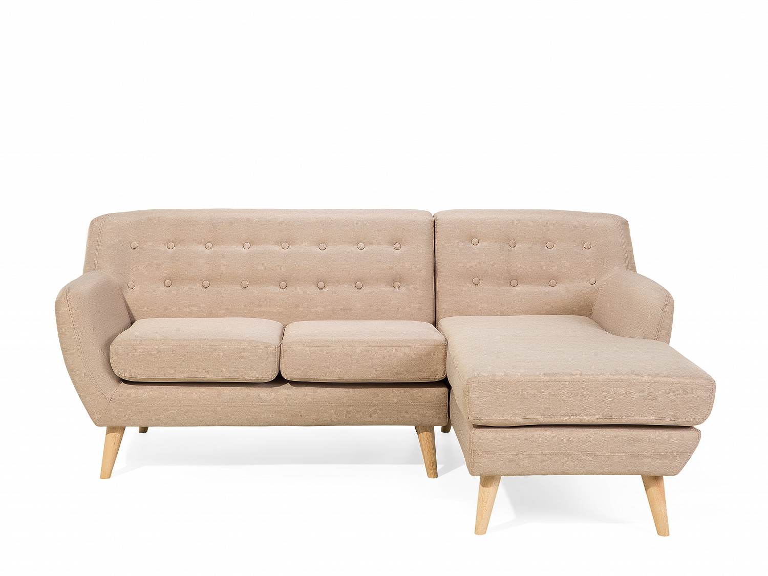 Corner sofa sectional couch fabric sofa retro beige ...