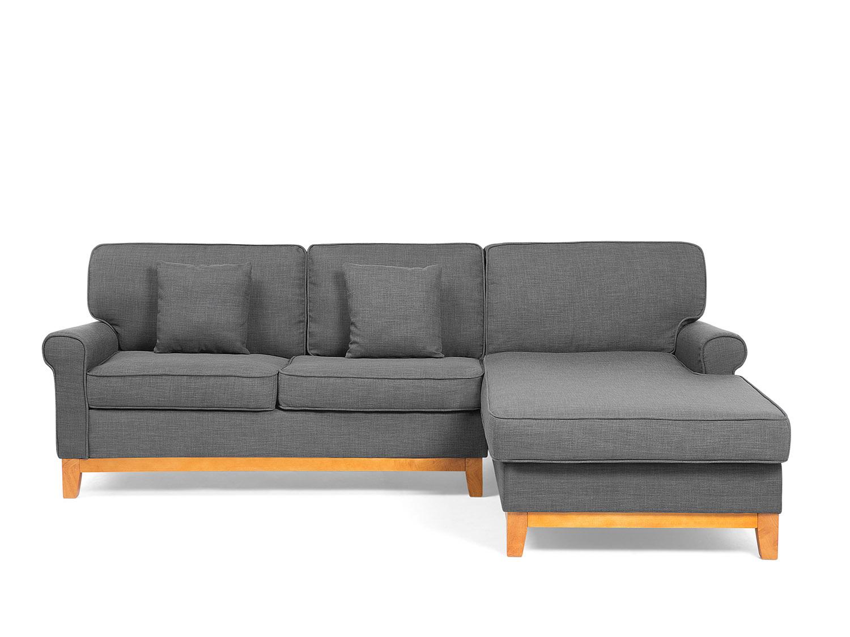 canap en tissu gris fonc canap d angle gris canap avec m ridienne ebay. Black Bedroom Furniture Sets. Home Design Ideas