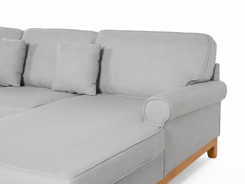 sofa hellgrau couch ecksofa wohnlandschaft eckcouch polsterecke stoffsofa ebay. Black Bedroom Furniture Sets. Home Design Ideas