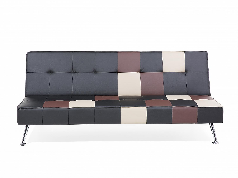 sofa schwarz patchwork schlafsofa couch schlafcouch bett ... - Wohnzimmer Sofa Schwarz