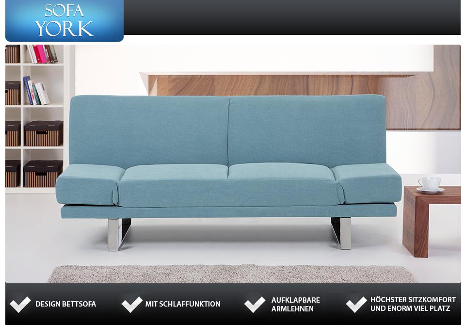 4sitziges stoffsofa couch pastellminze in baar kaufen for Schlafsofa york